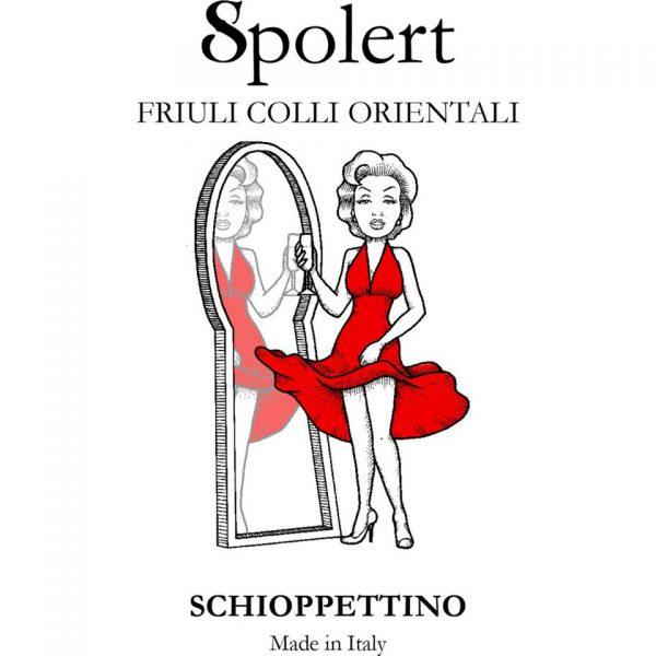 Etichetta Schioppettino spolert