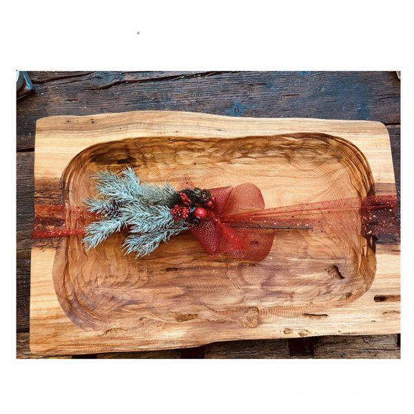 pezzo unico - Portafrutta in ciliegio - fatto a mano - Enolike